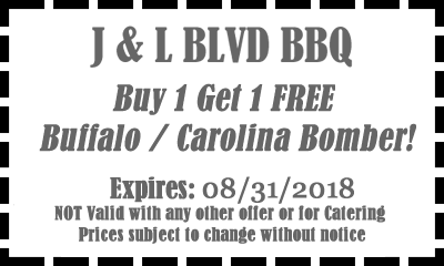 Buy 1 Get 1 Free Barbeque Restaurant Special!